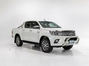 2016 Toyota Hilux GUN126R SR5 (4x4) Crystal Pearl 6 Speed Automatic Dual Cab Utility Devonport Devonport Area Preview