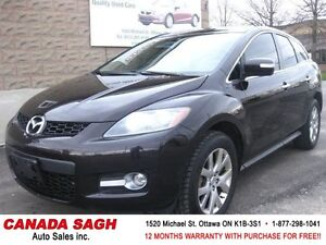 2009 Mazda CX7 AWD/ NAV/LTHR/ROOF, 12M.WRTY+SAFETY $8900