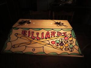 lampe lumière luminaire suspendu pour table de billard ou décor