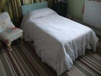 Single White Lacy Bedspread