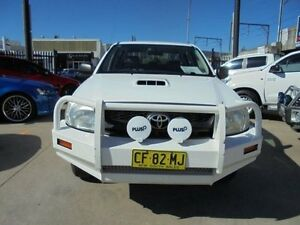 2010 Toyota Hilux KUN16R MY10 SR White 5 Speed Manual 4D Utility Holroyd Parramatta Area Preview