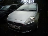 2007Fiat Grande Punto 1.2 Petrol 3 door MOT'd April 95,000 Miles £995
