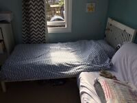 Single Bed For Sale, Wooden Frame With John Lewis Mattress Included