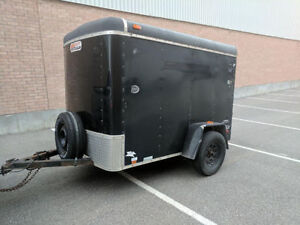 Jensen Enclosed Trailer 5' x 8' Trailer with Rear Ramp 6' Tall