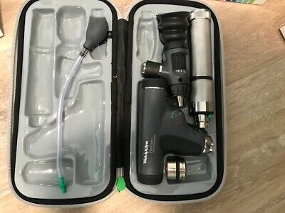 Welch Allyn Panoptic Set Wnicad Handle Led Bulbs 97800mcl Mint Condition