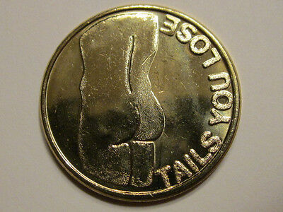gay interest Naked Man Di<# / A$$ Heads I Win / Tails U Lose coin medal token