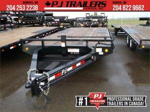 """20' x 8"""" PJ I-Beam Deckover Trailer, 14K GVWR (F8J)"""