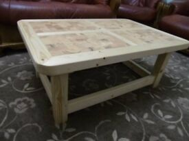 Handmade Wooden Rustic Style Coffee Table - BRAND NEW TO ORDER