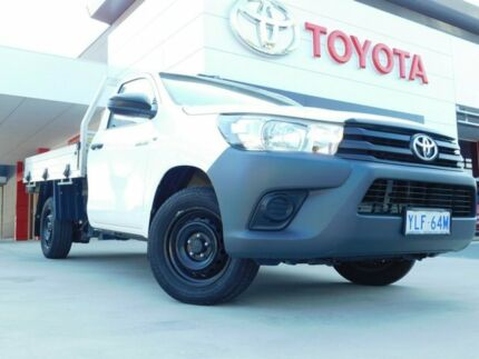 2016 Toyota Hilux TGN121R Workmate 4x2 White 5 Speed Manual Cab Chassis Greenway Tuggeranong Preview