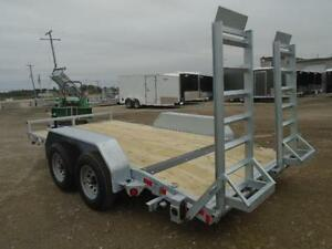 GALVANIZED 5 TON EQUIPMENT TRAILER 7X14' -OLD STOCK CLEAR OUT London Ontario image 2