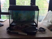 Complete Aquarium set - 37.5L tank and accessories