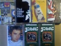 A-Z 2x PAUL WELLER, 2x THE WHO, ROBBIE WILLIAMS YARDBIRDS PRERECORDED CASSETTE TAPES. 1000+ ON OFFER
