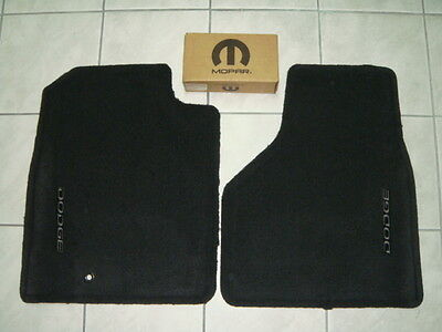 DODGE RAM TRUCK PICKUP 2002-2005 CARPETED FLOOR MATS INSIGNIA BLACK OEM - Dodge Truck Black Carpet