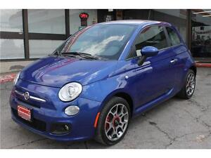 2013 Fiat 500 *Sport* / Heated Seats . Leather . Alloys