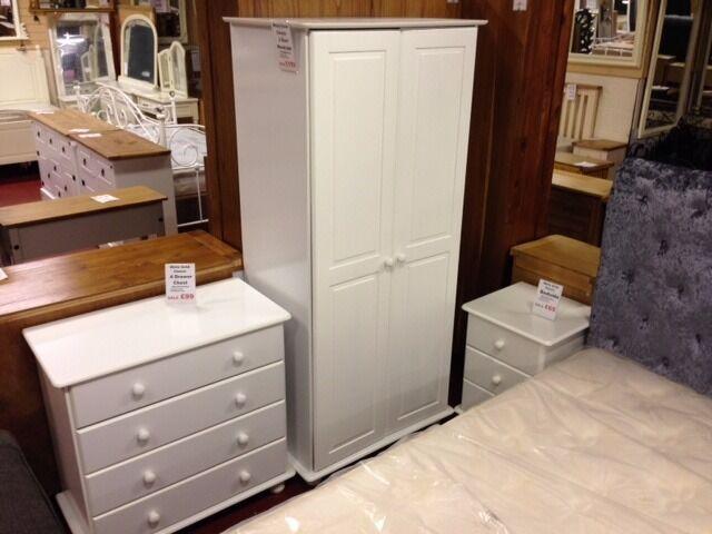 New Sol Solid White 2 door wardrobe £159