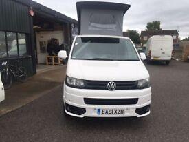 2012 VW T5 CAMPERVAN, MOTORHOME, 2.0 TDI,AIR CON,CRUISE CONTROL, B/TOOTH, 99K. Deposit now taken.