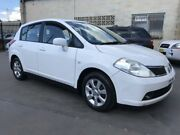 2007 Nissan Tiida C11 MY07 Q White 4 Speed Automatic Hatchback Cambridge Park Penrith Area Preview