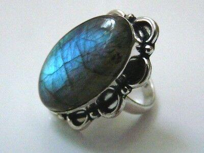Beautiful Labradorite Ring size N 1/2 (7). Free P&P d'occasion  Expédié en Belgium