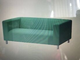 Two-seat sofa KLIPPAN Flackarp green