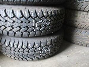 195/65 R15 GOODYEAR NORDIC WINTER TIRES ON STEEL RIMS USED SNOW TIRES (SET OF 4 - $360.00) - APPROX. 85% TREAD