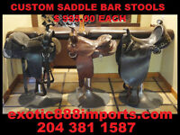 Custom Built Saddle Bar Stools