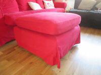 IKEA Ektorp Red Large Footstool Chase