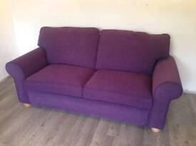 Purple Double Sofa Bed