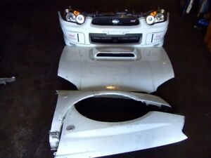 JDM SUBARU WRX STI VERSION 8 FRONT END BUMPER HOOD FENDERS