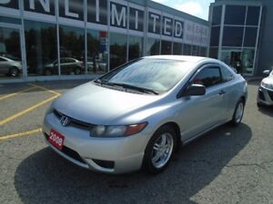 2008 Honda Civic **LIKE NEW, LOW KM** LOADED!! DX COUPE