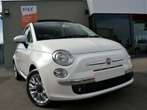 2014 Fiat 500 Series 3 Lounge Dualogic White 5 Speed Sports Automatic Single Clutch Hatchback Fawkner Moreland Area Preview