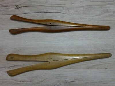 2x Vintage Wooden glove stretcher
