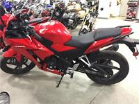 2015 HONDA CBR300R ABS DEMO WITH HEATED GRIPS AND FULL WARRANTY