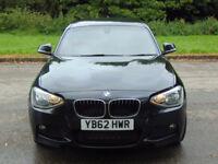 BMW 1 SERIES 2.0 118D M SPORT 5d 141 BHP (black) 2013
