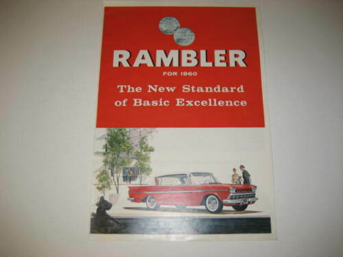 1960 Rambler Car Advertisement Brochure
