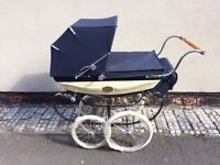 Silver Cross Millennium Doll's Pram - Limited Edition Hardly Used Blue 2000