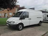 2005 05 FORD TRANSIT 2.0TDCI T350 LWB SEMI HIGH ROOF. 125 BHP. PX TO CLEAR.