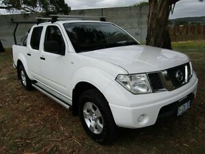 2011 Nissan Navara D40 RX (4x4) White 5 Speed Automatic Dual Cab Pick-up Invermay Launceston Area Preview