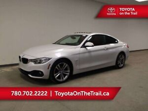 2016 BMW 4 Series 428iX; AWD, HUD, RED LEATHER, SUNROOF, NAV, HE