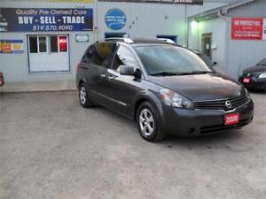 2008 Nissan Quest S| NO ACCIDENTS| NO RUST| ONLY 143KM| DVD
