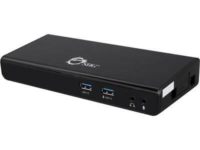 SIIG Black JU-DK0211-S1 USB 3.0 Universal Dual Video Docking Station