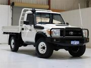 2008 Toyota Landcruiser VDJ79R Workmate White 5 Speed Manual Cab Chassis Bibra Lake Cockburn Area Preview