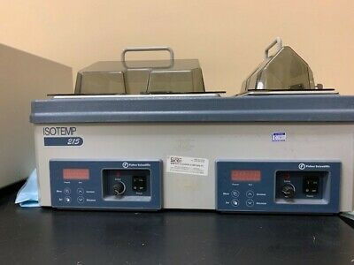 Fisher Scientific Isotemp 215 Dual Chamber Digital Water Bath Cat 15-462-15