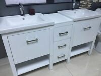 "Montana 60"" BATHROOM VANITY WHITE $699"
