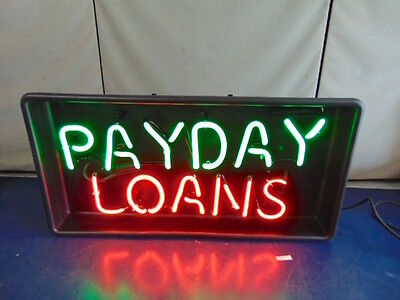 Payday Loans Neon Sign   Green And Red  By Ventex   New     R388
