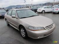2001 Honda Accord Cpe EX Loaded Certified Low Kms $2,995+taxes