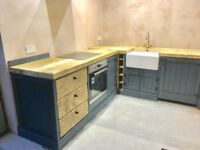 Industrial style solid wood kitchen units