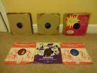 """Old shellac 78s. Collection of 10"""" 78s in varying condition."""