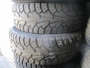 215/65 R17 HANCOOK WINTER I*PIKE WINTER TIRES USED SNOW TIRES (SET OF 2) - APPROX. 85% TREAD