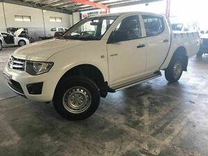 2012 Mitsubishi Triton MN MY12 GLX Double Cab White 4 Speed Automatic Utility Welshpool Canning Area Preview