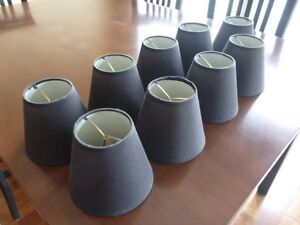 Chandelier Lampshades 9 Black - Perfect Condition